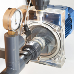 Laboratory teaching equipment experiment with centrifugal pump