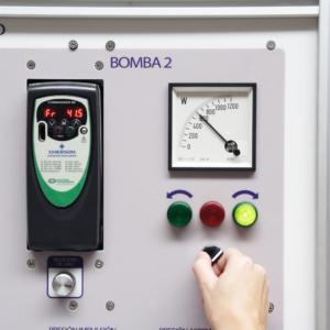 Equipo didáctico laboratorio bombas serie paralelo informatizado