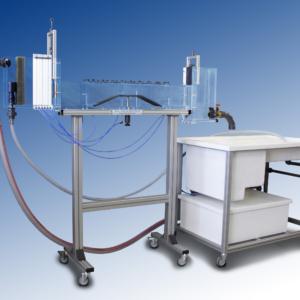 Canal de demostración de flujo hidráulico