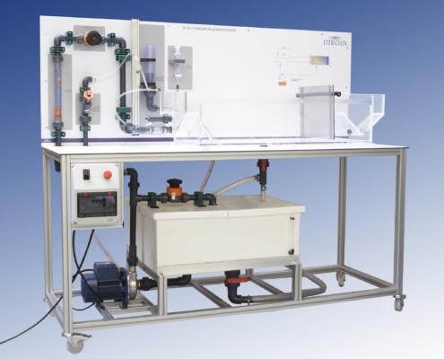 Equipo didáctico laboratorio tanque de sedimentación