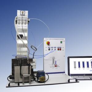 Equipo laboratorio torre de enfriamiento de agua