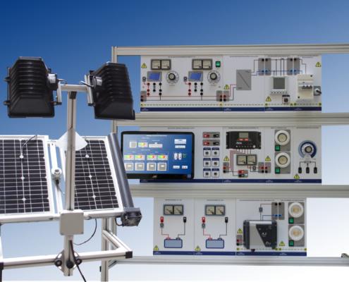 Equipo didáctico entrenador energía solar fotovoltaica