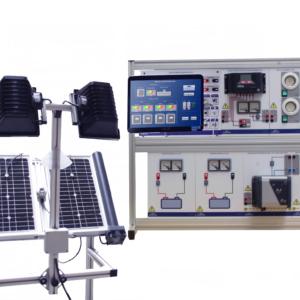 Equipo energía fotovoltaica aislada con PC