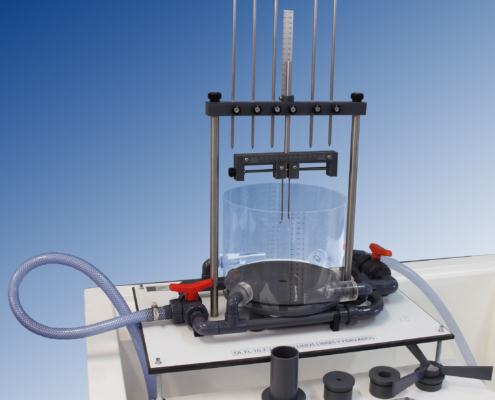 Equipo mecánica de fluidos torbellinos libres y forzados