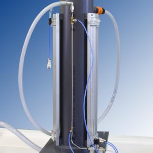 Equipo laboratorio estudio pérdida de energía en tubos