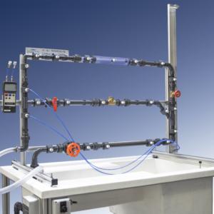 Equipo laboratorio estudio pérdidas de carga secundaria